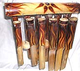 Southwestern decor home supply - horizontal fire burned 12-pipes bamboo windchimes