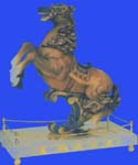 Resin horse figurine on stand