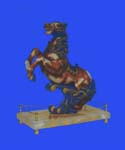 Fine art supply online - resin horse figurine on stand