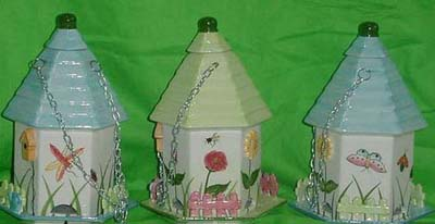 Wholesale garden decoration - flower painted summer garden house ceramic pot