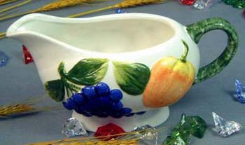 Collectible home decoration giftware wholesale - ceramic handle sauce pot
