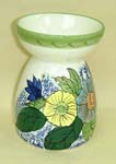 Hand painted flower ceramic aroma therapy burner supply